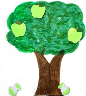 Five Green Apples tree